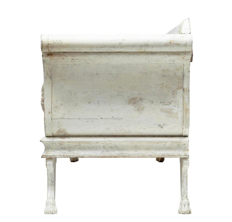 Swedish Fine Quality 19th Century Gustavian Taste Painted Sofa For Sale