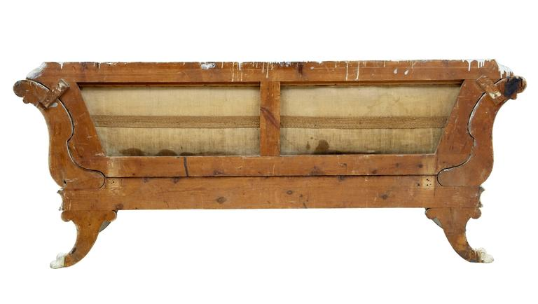 Fine Quality 19th Century Gustavian Taste Painted Sofa In Good Condition For Sale In Debenham, Suffolk