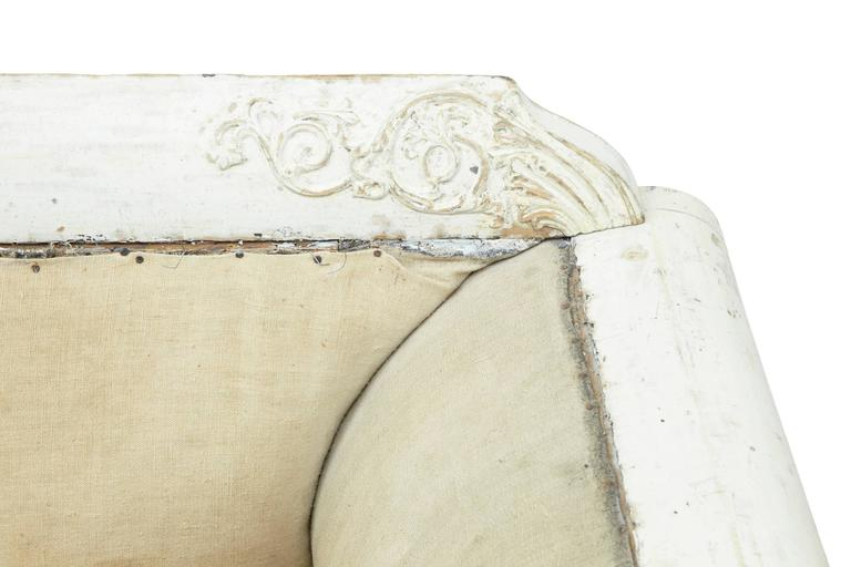 Fine Quality 19th Century Gustavian Taste Painted Sofa For Sale 1
