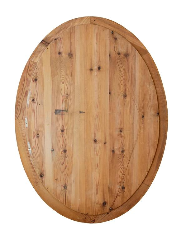 Victorian Late 19th Century Birch Oval Mirror For Sale