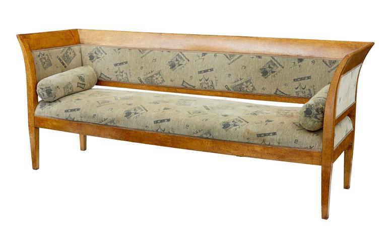 Victorian 19th Century Sofa and Six Chairs in Birch Root For Sale