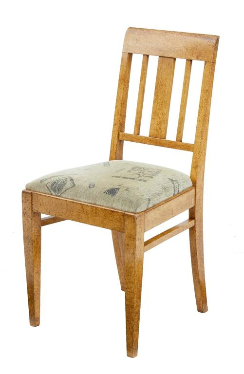 19th Century Sofa and Six Chairs in Birch Root In Good Condition For Sale In Debenham, Suffolk
