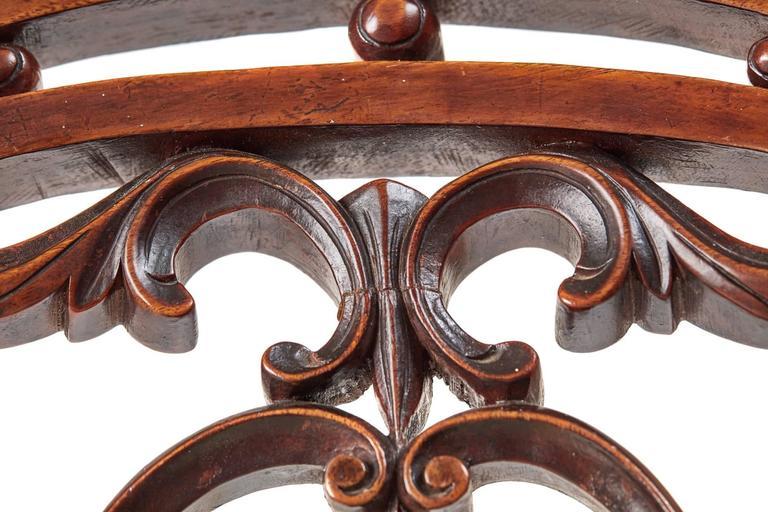 Set of Six 19th Century Victorian Walnut Dining Chairs 1