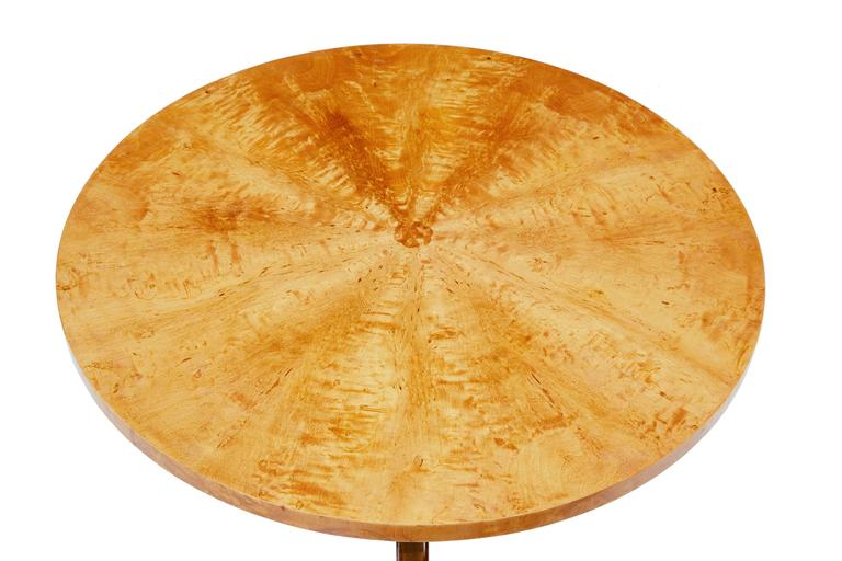 Art Deco 1950s Later Deco Swedish Birch Occasional Table For Sale