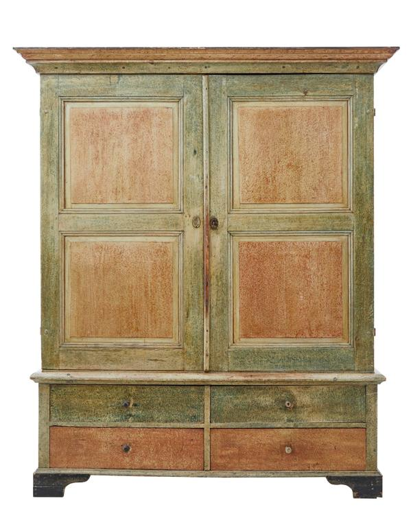 how to paint a kitchen cabinet 19th century rustic swedish pine ragwork painted cabinet 8786