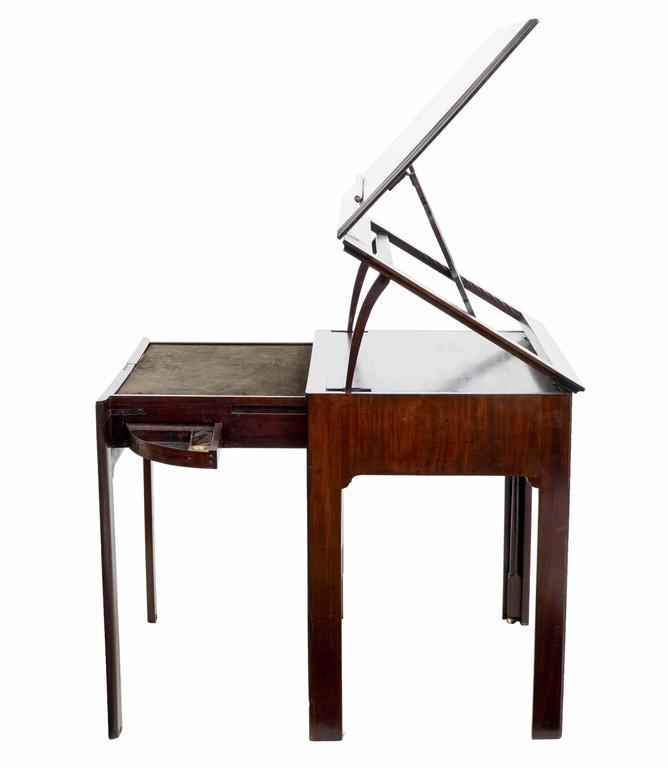 fine quality georgian mahogany metamorphic architects desk