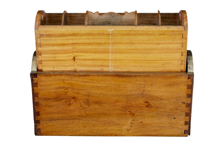 Hardwood 19th Century Chinese Tambour Campaign Writing Lap Desk For Sale