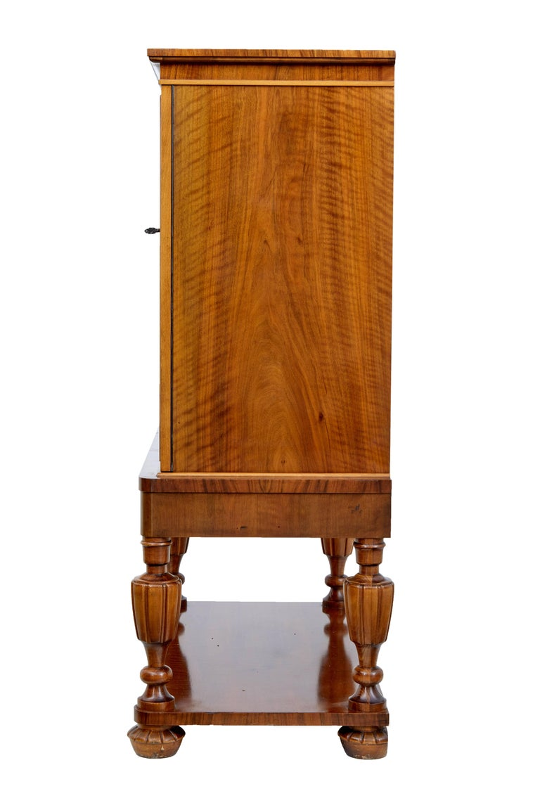 20th century deco walnut chest on stand for sale at 1stdibs