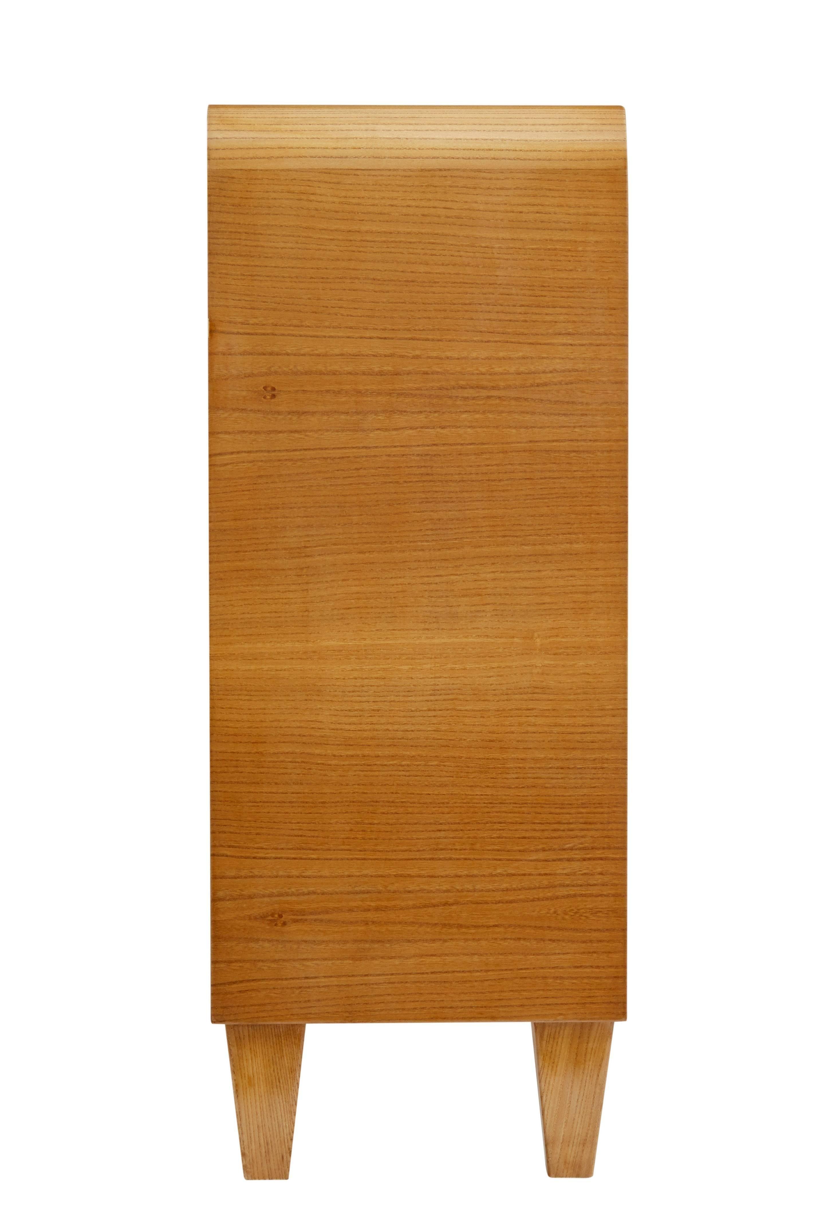 1950s Swedish Burr Elm Low Bookcase Cabinet
