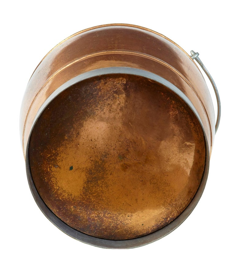 European Arts & Crafts Copper Bucket For Sale