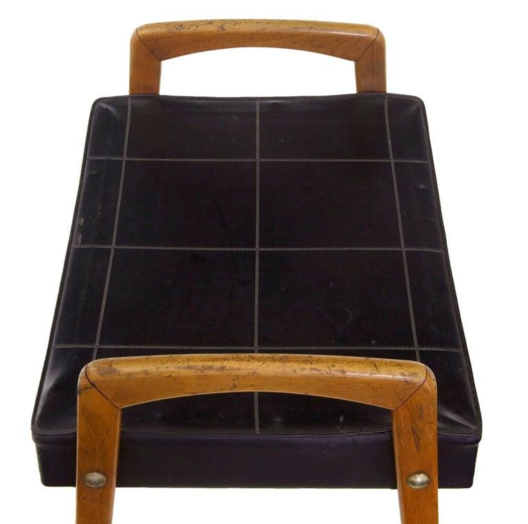 1960s Scandinavian Modern Leather Stool At 1stdibs
