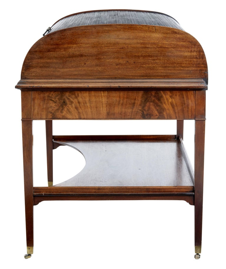 19th Century William Iv Gany Rolltop Writing Desk In Good Condition For Debenham