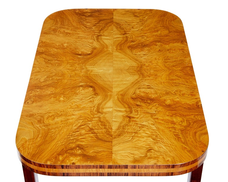 Art Deco Later Deco Swedish Elm Root Coffee Table For Sale