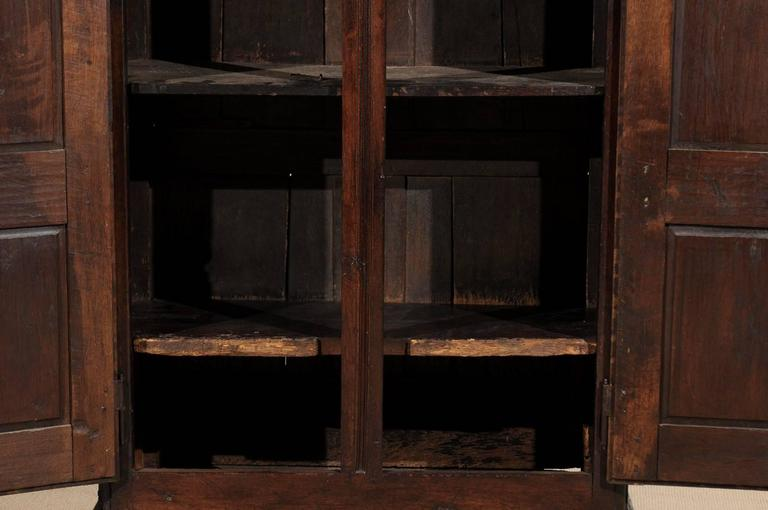 French Armoire In Oak Circa 1800 With Carved Doors And