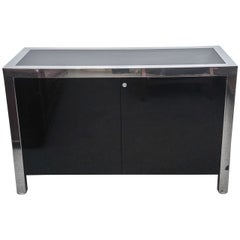 Pace Collection Chrome Credenza or File Cabinet