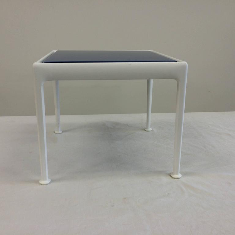 Pair Of Richard Schultz For Knoll Blue Enamel Outdoor Side