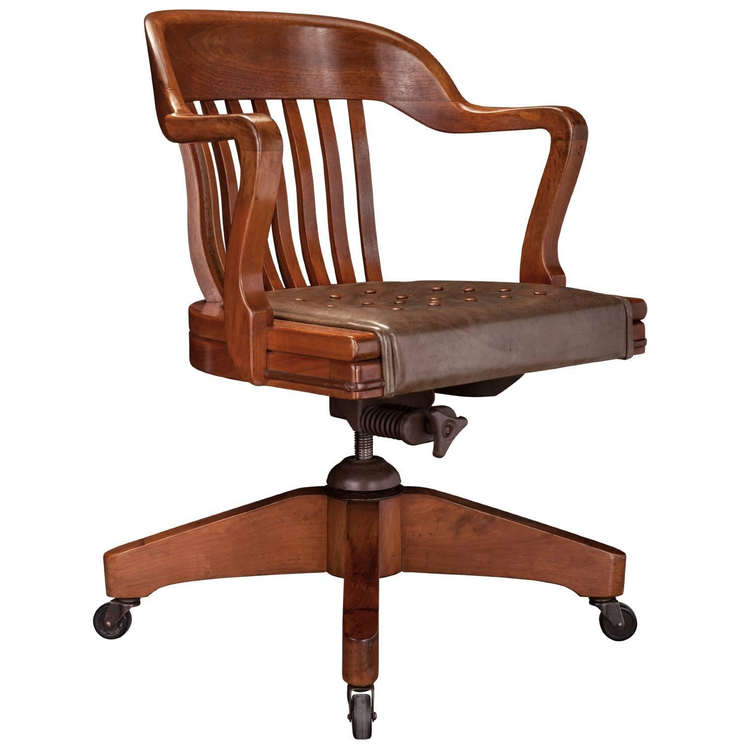 Gunlocke Swivel Chair At 1stdibs