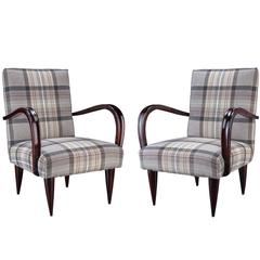 Pair of Plaid Armchairs