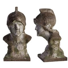Pair of Garden Stone Busts