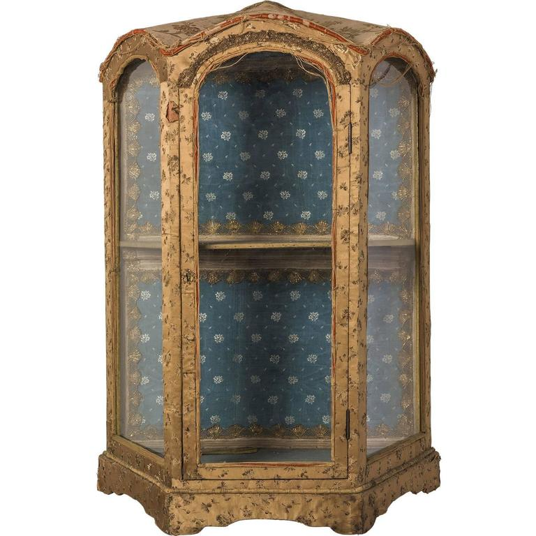Victorian Wall Curio  sc 1 st  1stDibs & Victorian Antique Curio Cabinet with Hand Carved Wood Designs For ...