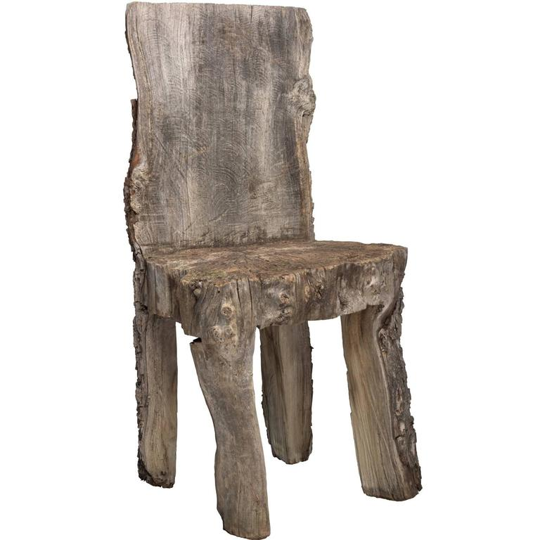 Primitive Wooden Hall Chair