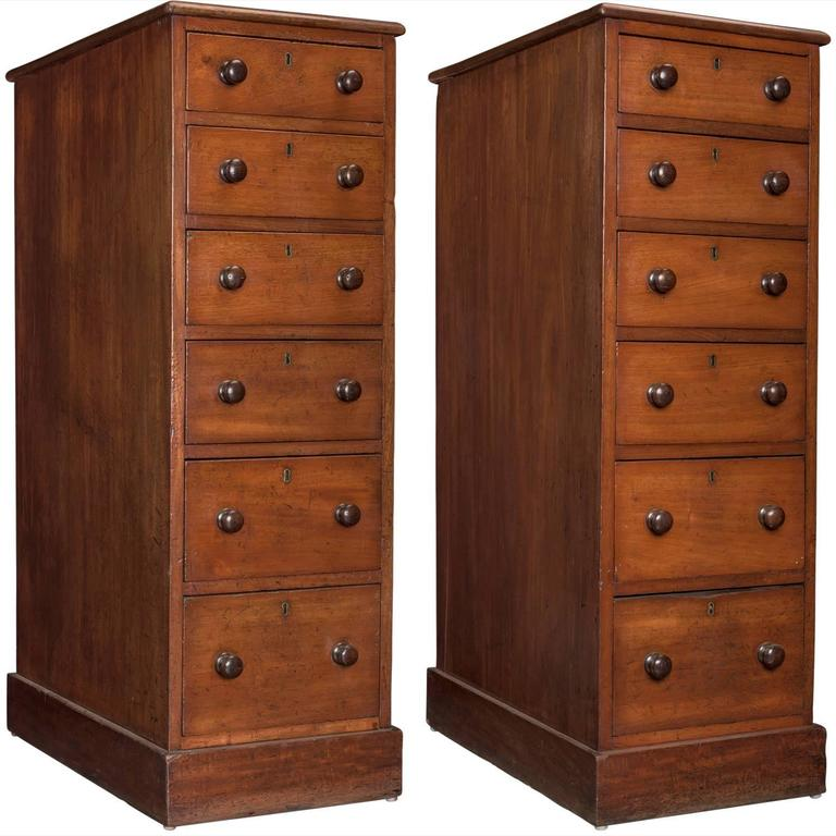 tall mahogany chest of drawers for sale at 1stdibs. Black Bedroom Furniture Sets. Home Design Ideas