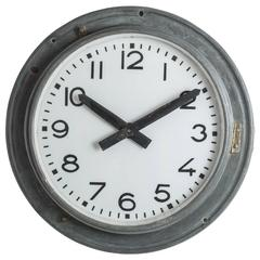Industrial Zinc Brillié Clock