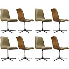 Archie Shine Swivel Dining Chairs