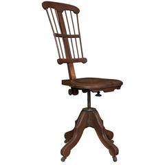 Oak Architect's Swivel Chair, circa 1900
