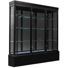 Ebonized Wood and Glass Display Cabinet, England, circa 1920