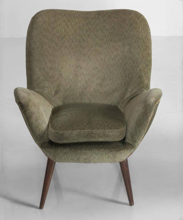 Italian Pair of Giuseppe Carmignani Armchairs, circa 1958 For Sale