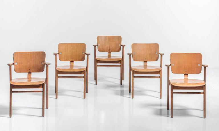 Set of Six Tapiovaara Armchairs, circa 1953 3