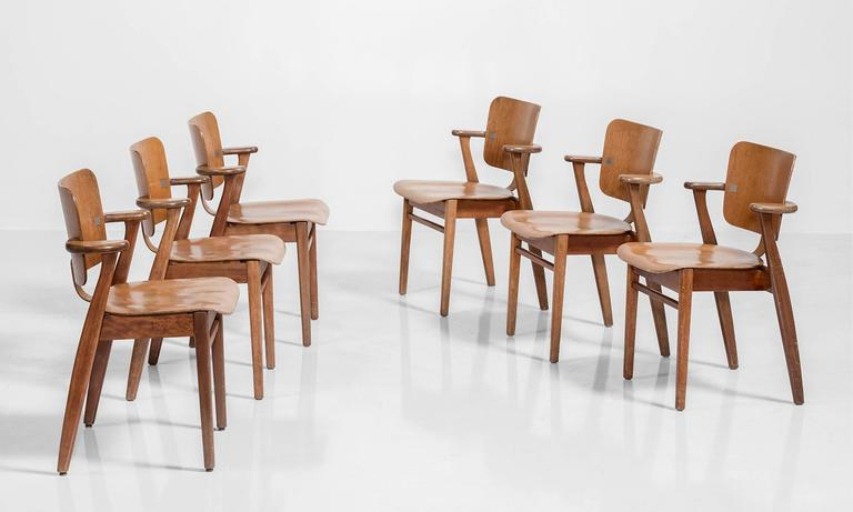 Set of Six Tapiovaara Armchairs, circa 1953 2