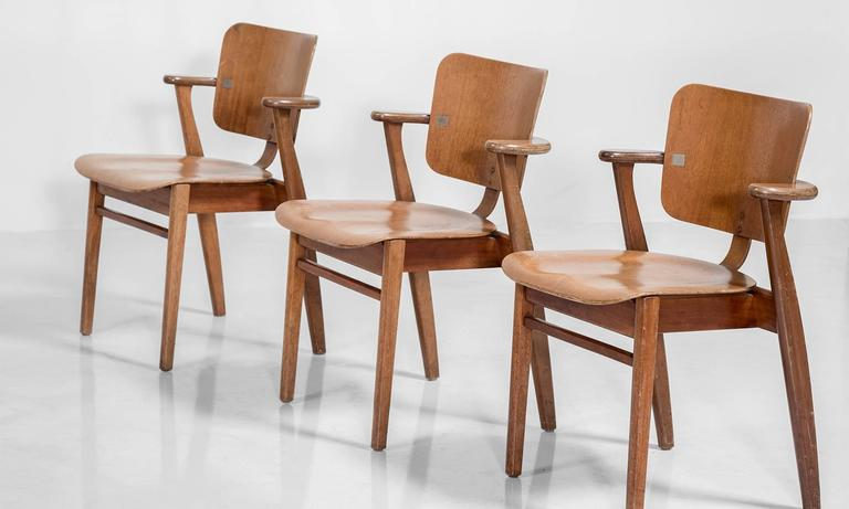 Set of Six Tapiovaara Armchairs, circa 1953 5