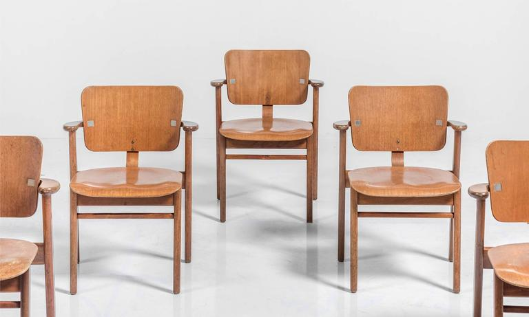 Set of Six Tapiovaara Armchairs, circa 1953 4