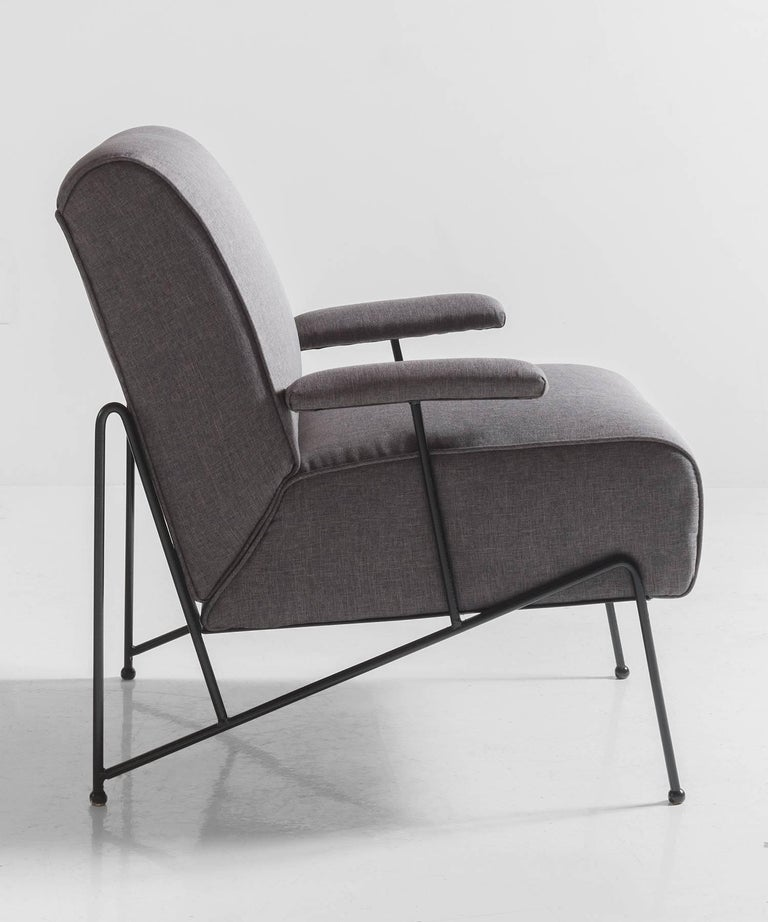 Mid-Century Modern Modern Upholstered Lounge Chair For Sale