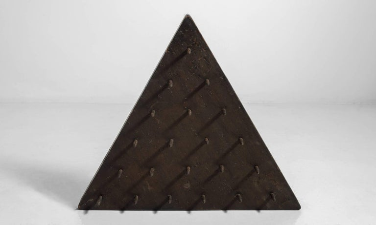 Odd Fellows Triangular Wooden Piece with Spikes, circa 1900 3