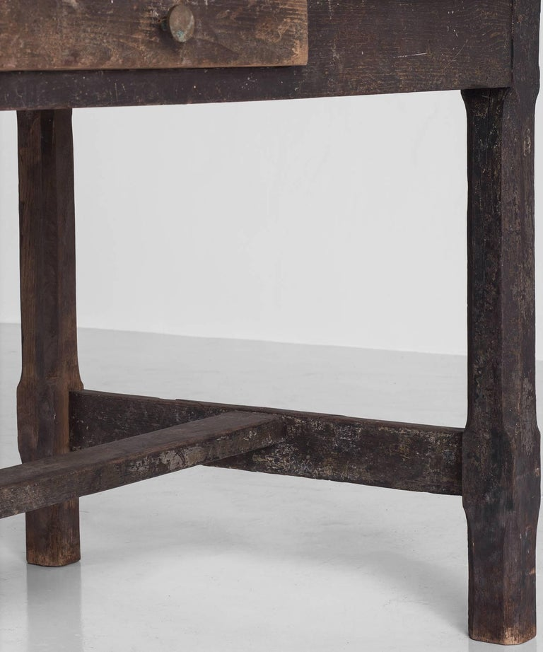 Late 18th Century Painted Oak Work Table, England, circa 1780 For Sale