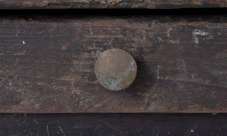 Painted Oak Work Table, England, circa 1780 For Sale 1
