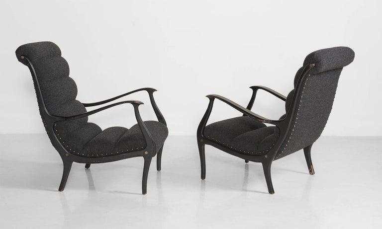 Modern Ezio Longhi Bentwood Armchairs, circa 1960 For Sale