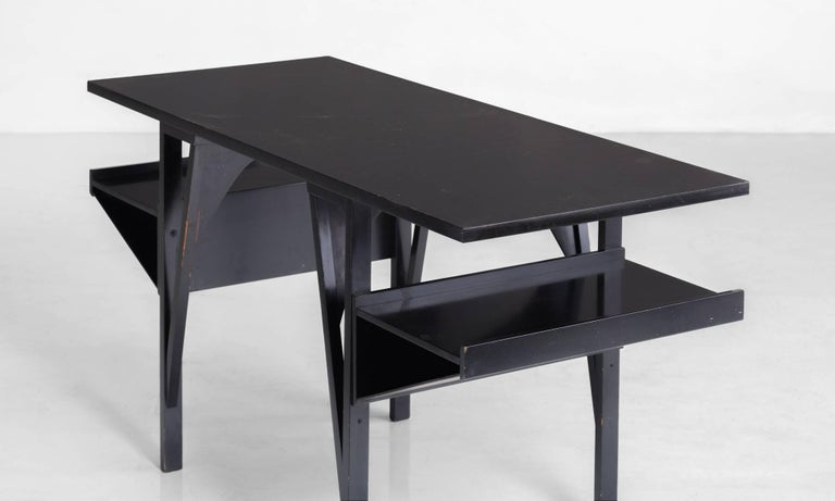 Black Modernist Desk Circa 1960 For Sale At 1stdibs