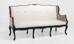 Italian Ebonised Wood Sofa, circa 1900
