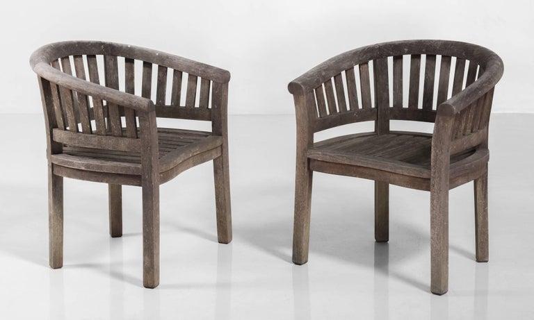 Teak Garden Chairs Circa 1950 For Sale At 1stdibs