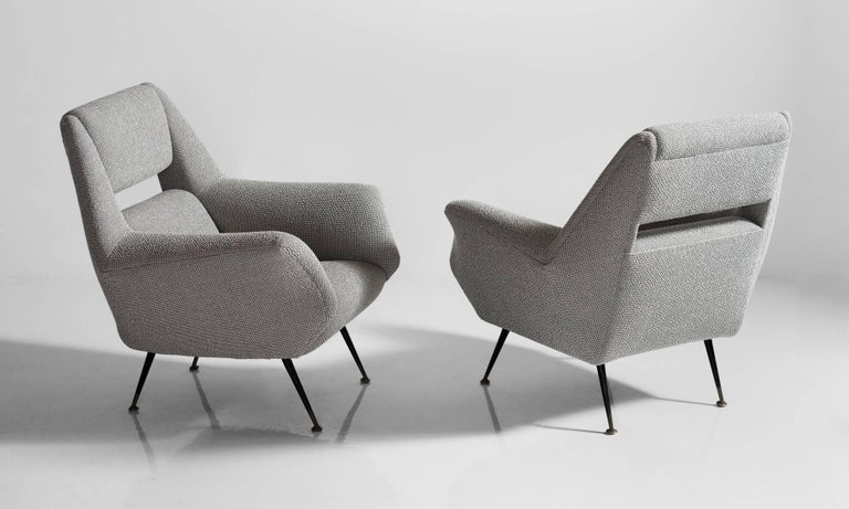 Modern Open Back Armchairs, circa 1950 For Sale