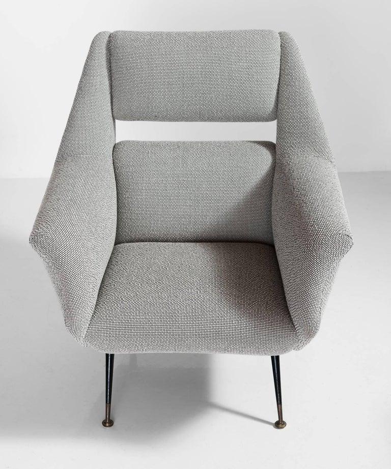 Italian Open Back Armchairs, circa 1950 For Sale