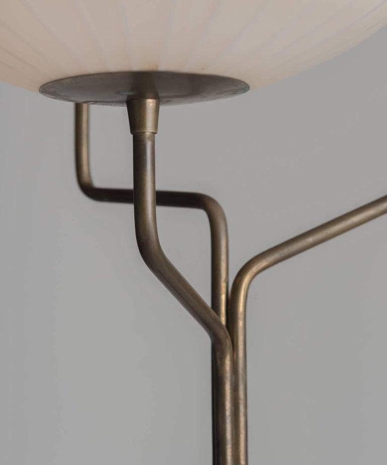 Italian Triple Opaline Glass Floor Lamp, circa 1960 For Sale