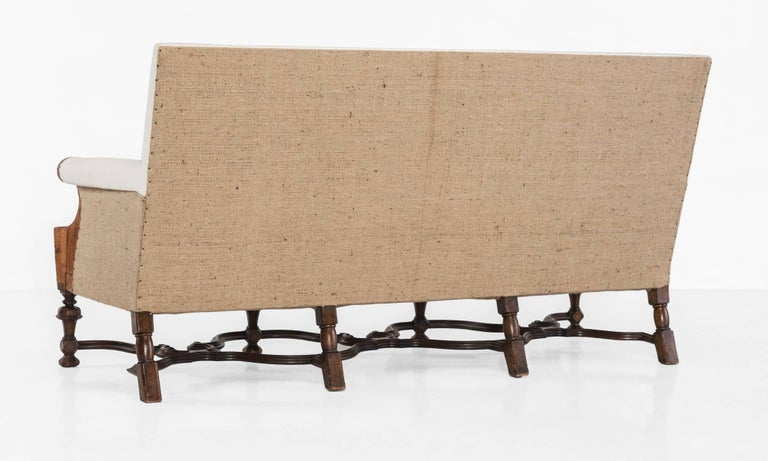 Cotton English Sofa, circa 1900 For Sale