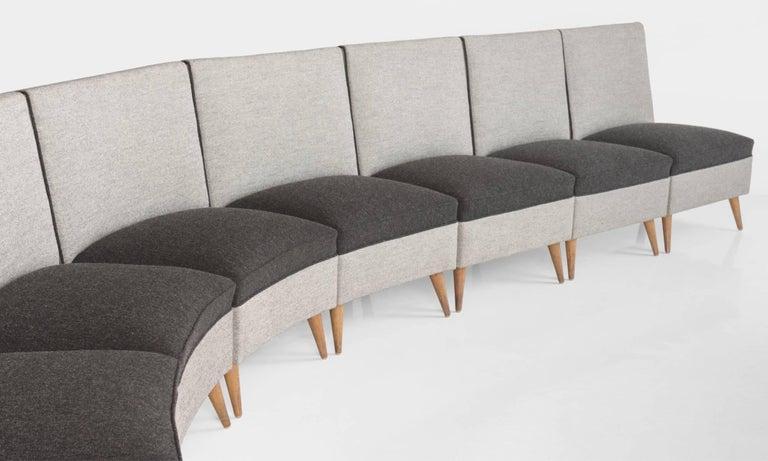 Modern Sectional Sofa, circa 1960 For Sale 1