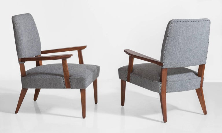 Italian Modern Armchairs, circa 1950 In Excellent Condition For Sale In Culver City, CA