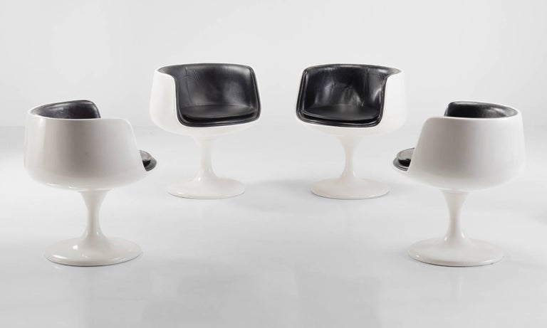 Modern Set of (4) Eero Aarnio Style Dining Chairs, Finland, circa 1960 For Sale